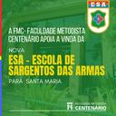 A Faculdade Metodista Centenário está junto com Santa Maria para receber a ESA