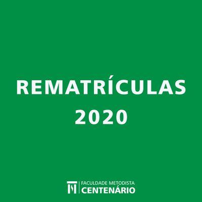 Aberto o período de rematrículas para o primeiro semestre de 2020 dos cursos de graduação