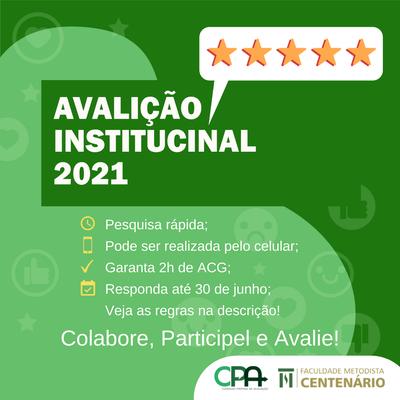 Avaliação Institucional 2021 – Comunidade acadêmica tem até 30 de junho para participar