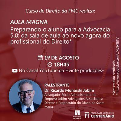 Curso de Direito realiza Aula Magna no dia 19 de agosto