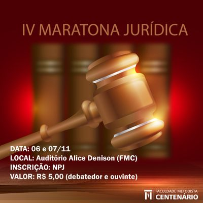 Curso de Direito realiza IV Maratona de argumentação Jurídica