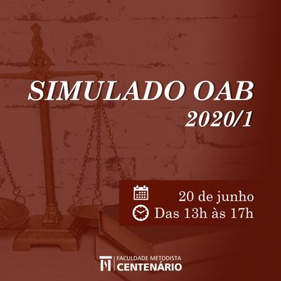 Curso de Direito realiza simulado on-line da OAB