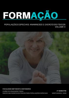 Curso de Educação Física lança 2º volume do e-book sobre anamneses e exercícios para a populações especiais