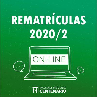 Está aberto o período de rematrículas da FMC para o 2º semestre de 2020