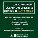 FACULDADE CENTENÁRIO OFERECE 20% DE DESCONTO PARA ASSOCIADOS DO CDL