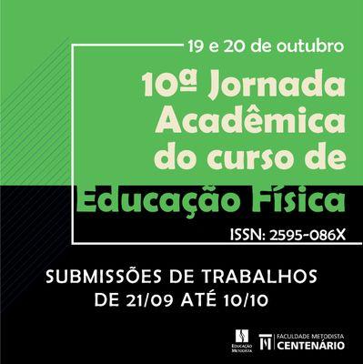Inscrições abertas para a 10ª Jornada Acadêmica do Curso de Educação Física