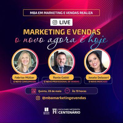 """Live """"Marketing e vendas, o novo hoje é agora"""" será realizada pelo MBA em Marketing e Vendas"""