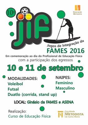 10ª Edição do JIF está marcada para os dias 10 e 11 de setembro