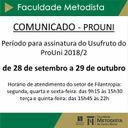 Comunicado: alunos do ProUni
