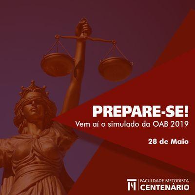 Curso de Direito realizará Simulado da OAB em 28 de maio