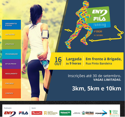 FAMES é parceira do 4º Eny Fila Running