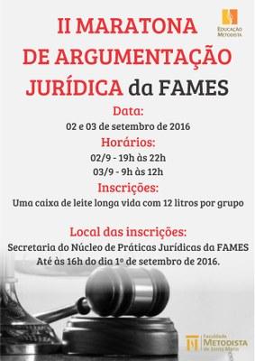 Inscrições abertas para a II Maratona de Argumentação Jurídica