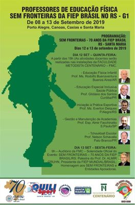 """Inscrições abertas para o projeto """"Profissionais da Educação Física sem Fronteiras"""", da FIEP Brasil"""