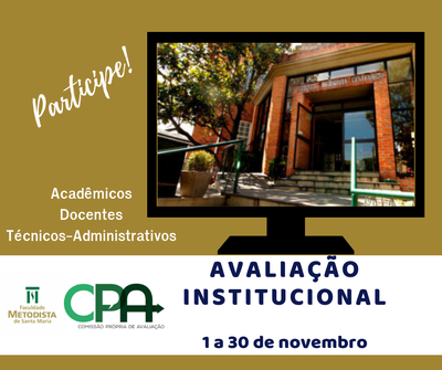 Participe da Avaliação Institucional 2018