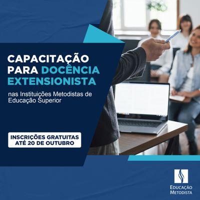 Professores das Instituições Metodistas recebem capacitação para docência extensionista
