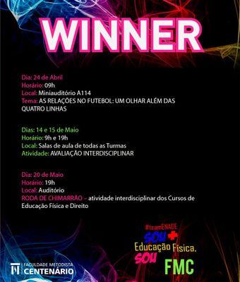 Programação do Winner inicia nesta quarta-feira (24)