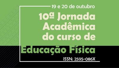 Participe da 10ª Jornada Acadêmica do Curso de Educação Física