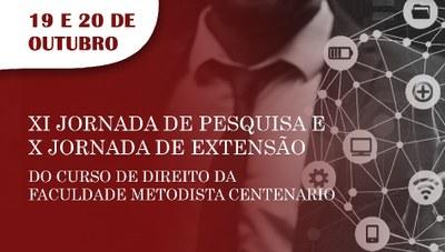 Curso de Direito promove 11ª Jornada de Pesquisa e 10ª Jornada de Extensão
