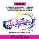 Vem aí a 4ª Semana Acadêmica e 2ª Jornada de Pesquisa e Extensão dos Cursos de Administração e Ciências Contábeis – Criatividade e Empreendedorismo
